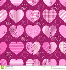 Wedding Gift Wrapper Design Seamless Pattern Of Pink Broken Hearts For Gift Wrapping