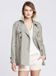 women s fashion outerwear trenchcoats grey trenchcoats banana republic linen trench