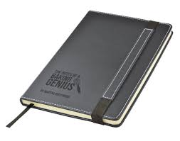 notes of a baking genius personalised engraved black leather pu note book journal