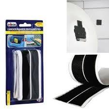 Купить <b>Лента</b>-<b>липучка самоклеящаяся 20мм</b> х 1м <b>UNIBOB</b>, черная ...