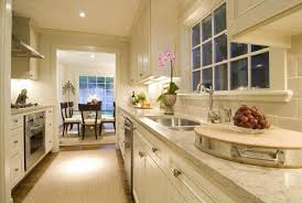 Interesting White Galley Kitchens Beautiful Creamy Kitchen Design With Cabinets On Perfect Ideas