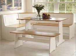 corner breakfast nook table set with chelsea corner nook
