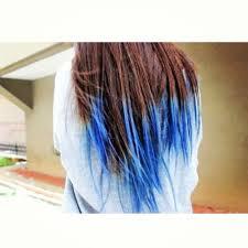 Blue Dip Dye On Light Brown Hair Blue Dip Dye With Brown Hair Resolution 1000 X 1000 Px