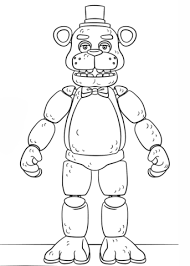 Fnaf Toy Golden Freddy Coloring Page Look Tyler Fnaf Coloring