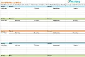 How To Create A Social Media Content Marketing Calendar Crummy