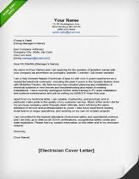Electrician Cover Letter Resume Cv Cover Letter