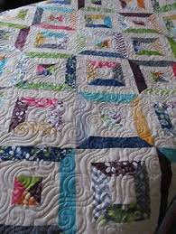 Quilt Story: Tube piecing. Fun technique... | Spin, Knit, Sew ... & Strip Tube quilt Like this could be made with white and any scraps. Adamdwight.com