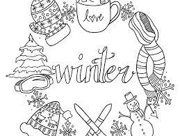 coloring: Winter Coloring Pages Snowman Free Printable Kids Scene ...