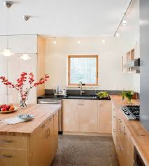 view in gallery asian themed kitchen eliminates any possible dull corners using track lighting