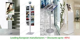 Multiple Poster Display Stands Information Poster Displays Holders Stands Leaflet Trays 46