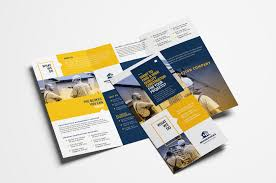 Brochure Templates For It Company Construction Company Tri Fold Brochure Template In Psd Ai