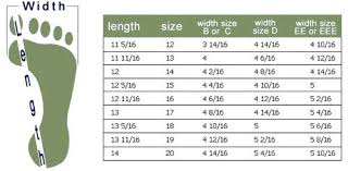 Clarks Boots Size Chart 80 Exhaustive Womens Foot Width Chart