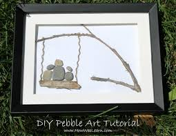 beautiful diy homemade pebble art such a great craft for kids and a beautiful gift