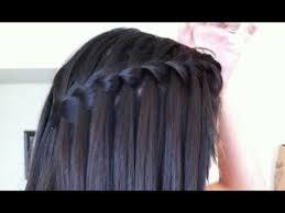 Hairstyle Waterfall easy waterfall braid hair tutorial for straight& curly hair 1185 by stevesalt.us