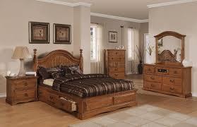 Light Pine Bedroom Furniture Light Brown Pine Finish Classic Bedroom W Storage Bed