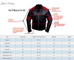 Leather Jacket Size Chart Size Chart Revo Leather