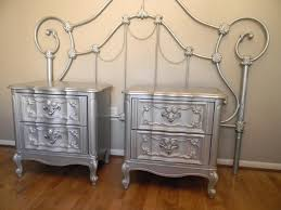 diy metallic furniture. metallic painted furniture silver nightstands diy