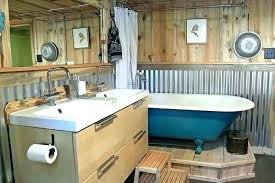 corrugated tin walls interior rusty metal bathroom fabulous divine home galvanized shower on vanity