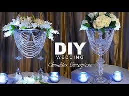 diy wedding chandelier centerpiece