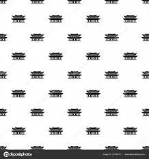 景福宮韓国パターンシンプルなスタイル ストックベクター