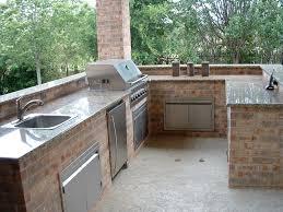 Stainless Steel Outdoor Kitchen Outdoor Kitchen Sink Kitchen Island Made Of Stone With Dark Tones