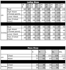 I Heart Raves Size Chart 12 Rational Size Guide For Clothes