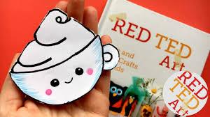 easy kawaii coffee cup bookmark diy kawaii bookmark diys corner bookmarks red ted art