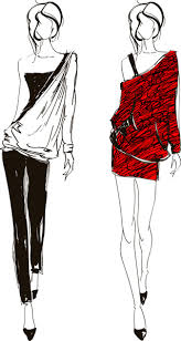 Hand Drawn Fashion Girls Vector Free Vector In Encapsulated
