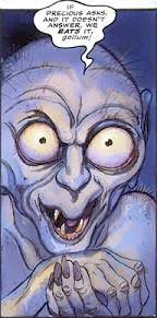 gollum as depicted in the 1989 ic book adaptation by david wenzel