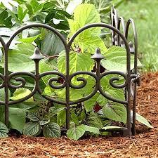 decorative fence edging fence border detail no dig decorative fence
