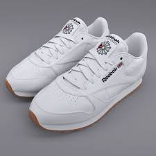 reebok classic leather white gum pbr 3d model