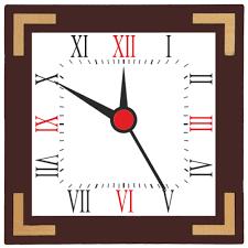 square shape wall clock custom design