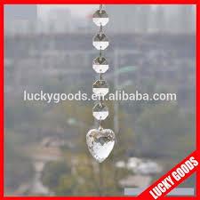 whole wedding tree acrylic chandelier beads garland with heart pendant