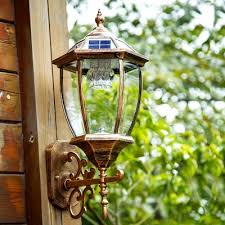 light sensor 20 inches high antique bronze solar led outdoor wall lamp takeluckhome com