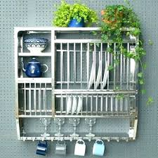 metal wall mounted plate rack stainless steel racks small dish