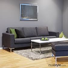 dalton sofa by softnord 3 seater with metal triangle legs