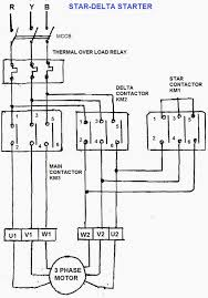 three phase star delta motor starter circuit diagram wirdig star delta starter consists following units contactors main star and