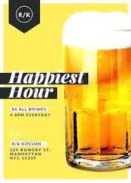 Happy Hour Invitation Template Happy Hour Invite Template Luxury Customize Restaurant Flyer