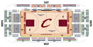 Cleveland Cavs Seating Chart Seating Charts Quicken Loans Arena Official Website Cavs