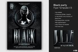 Black Party Flyer Template V3 Free Posters Design For Photoshop