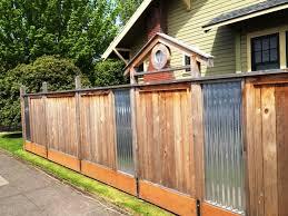 dave snyderreal estateportland or fence with wood corrugated metal fence panels