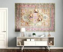 how to hang a rug on the wall from the floor to the wall how to