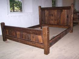 Queen Size Rustic Bed Frame Made with Beveled Posts. | For the Home |  Pinterest | Rustic bed, Bed frames and Queen size