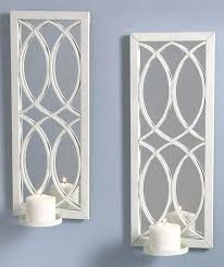 mirrored wall candle holders wall sconce candle holder silver color mirrored inside candle holder