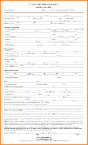 standard rental application card authorization  6 standard rental application