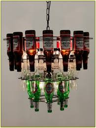 beer bottle chandelier frame