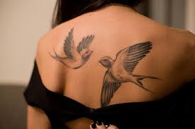 birds tattoo on back. Beautiful Back And Birds Tattoo On Back B