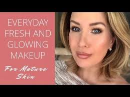 everyday fresh and glowing makeup tutorial for skin over 40
