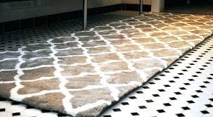 24 x 60 bath rug runner brilliant fantastic inch rugs mats bathroom grey