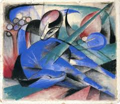 horse asleep by franz marc painting oil on canvas high quality hand painted abstract art reion
